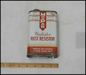 Vintage 1950 Mopar Rust Resistor Can Display Chrysler Plymouth Dodge Desoto 1940