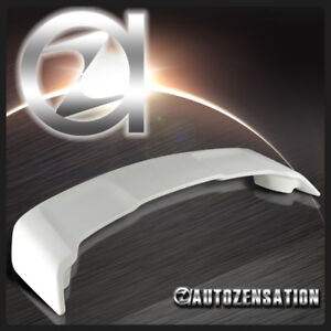 08 15 Mitsubishi Lancer Factory Style Unpainted White Rear Trunk Spoiler Wing