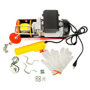 Pa600 Electric Wire Cable Hoist Winch Crane Lift Overhead W remote Control New