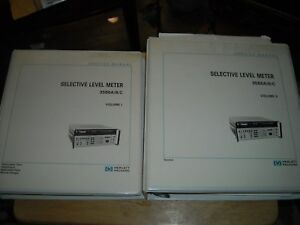 Hp Selective Level Meter 3586a b Vol I And Ii Manual W Change Sheets Used