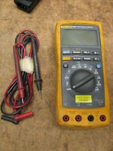 Fluke 187 True Rms Multimeter With Leads Works