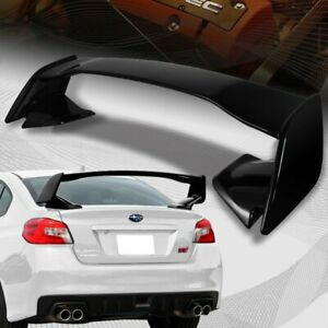 For 2015 2018 Subaru Wrx Sti Oe style Painted Black Abs Rear Trunk Spoiler Wing