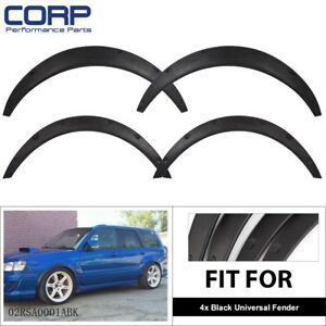 4pcs 3 1 80mm Universal Flexible Car Fender Flares Extra Wide Body Wheel Arches