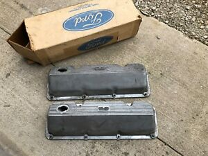 Ford Oem Boss 302 Small Block Valve Covers 1970 Mustang 69 351 1971 Cj Cougar