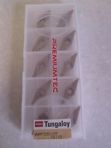 Lot Of 10 Tungaloy Carbide Inserts Style Vbmt Size 332 cm Grade T5115 New