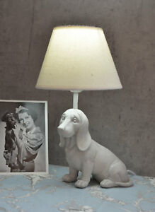 Table Lamp Dachshund Lamp In Country House Style Table Lamp White Sausage Dog