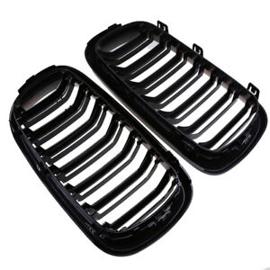 For Bmw X5 F15 X6 F16 F85 F86 2014 2016 Glossy Black Front Kidney Grille Grills