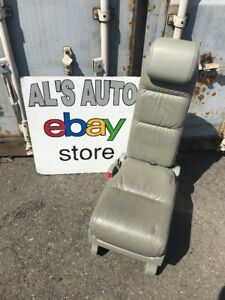 05 10 Honda Odyssey Middle Row Jump Seat Light Grey Leather Fold Down Oem