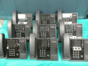 Lot Of 9 Polycom Cx600 Ip Phones 2201 15942 001 W handsets m276008