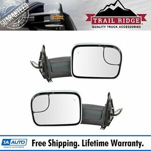 Trail Ridge Tow Mirror Power Heated Signal Blind Spot Chrome Pair For Tacoma New
