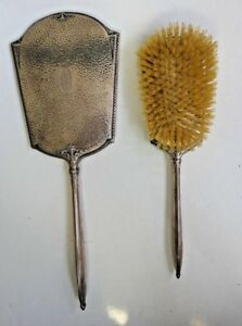Vintage Webster Company Sterling Silver Hand Hammered Brush Mirror Set