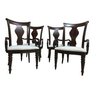 Set Of 4 Pennsylvania House Cherry Admiral Cortland Manor Dining Room Arm Chairs