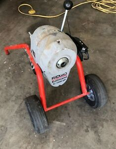 Ridgid 115 volt K 1500sp Sectional Sewer And Drain Cleaning Machine