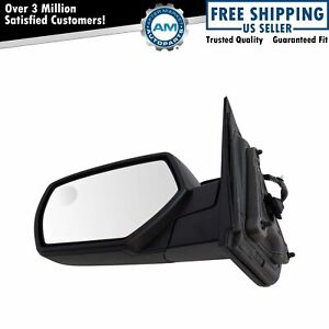 Mirror Power Heated Textured Black Driver Left Lh For Chevy Gmc Pickup Truck New