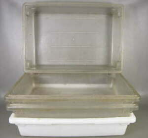 4 Cambro 18266cw 18266p Camwear 18x26x6 Clear wht Polycarbonate Food Storage Box