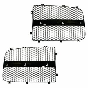 Grille Insert Black Front Left Right Pair Set For Dodge Ram 1500 2500 3500