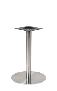 New 3 Pc Stainless Steel Round Table Base Restaurant Furniture Table Top 20r 1