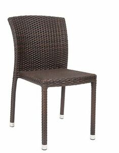 New Synthetic Wicker Aluminum Armless Chair Outdoor Restaurant Furniture 262