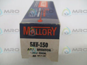 Mallory 5av 150 Resistor 150ohms 50w new In Box