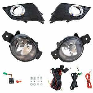 Add On Upgrade Clear Lens Fog Light Bulb Switch Wiring Kit For Nissan Sentra