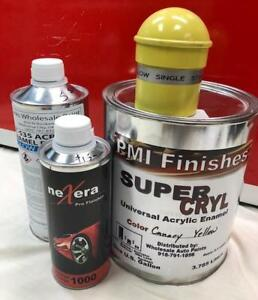Canary Yellow Gallon Kit Single Stage Acrylic Enamel Car Auto Paint Kit