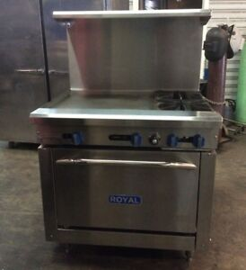 Royal Range Rr 2 g24 Commercial Range Gas 2 Burner 24 Griddle