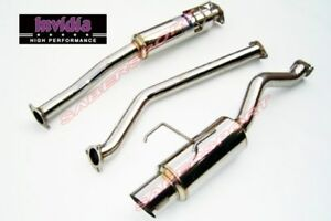 Invidia N1 Cat back Exhaust W S s Tip For 2002 2006 Acura Rsx Type S Dc5