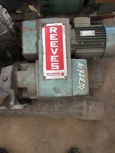 Reeves Geared Variable Speed Drive Electric Motor - 1.5kW Reeves 1pcs #Z