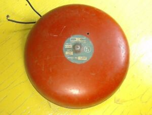 Large 8 5 Vintage Fire Bell Alarm School Boxing Emergency Signal Chime W Mount