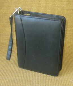 Compact 1 5 Gold Rings Green Leather Franklin Covey quest Zip Planner binder