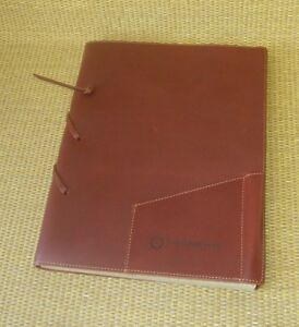 Monarch Size Brown Leather Franklin Covey Sketch Pad journal Log Fine Paper