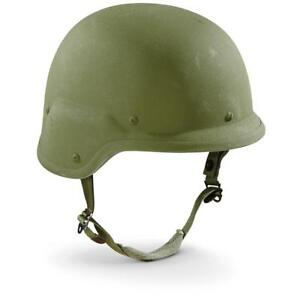 USGI PASGT Kevlar Helmet size Large w woodland cover used previously issued