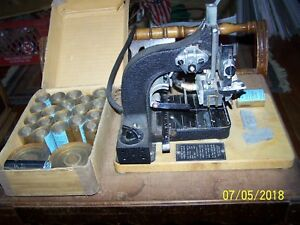 Vintage 1950 s Kingsley Hot Foil Stamping Machine Model M 50 W 22 Rolls Of Foil