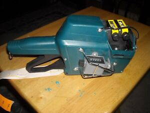 Garvey Contact 37 1212 Label Pricing Gun W Wire Guard And Counter Used Working