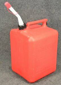 Midwest 5 Gallon Red Plastic Vented Gas Can