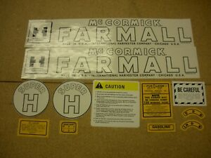 Ihc Super H Farmall Tractor Decal Set New Free Shipping