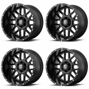 Set 4 17 Xd Series Xd820 Grenade Black Wheels 17x8 5 5x4 5 0mm Ford Jeep 5 Lug