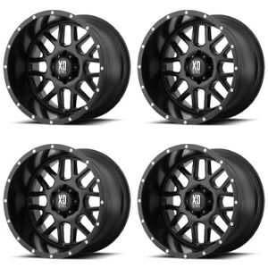 Set 4 18 Xd Series Xd820 Grenade Black Wheels 18x8 6x130 48mm 6 Lug Truck Rims