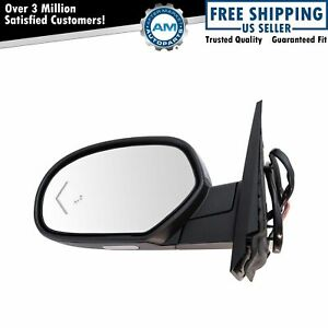 Mirror Power Folding Heated Signal Memory Blind Spot Puddle Chrome Left For Gm
