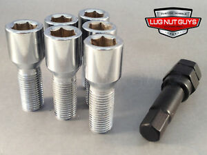 20 Tuner Lug Bolts 12x1 25 Chrome Conical Stud Bolt 28mm Socket Style