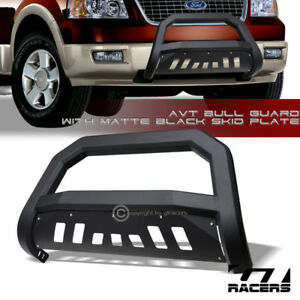 Matte Black Avt Edge Bull Bar Brush Push Bumper Guard 2004 2018 Ford F150 Truck