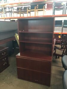 2 Drawer Lateral Size File Cabinet W hutch By Steelcase Office Furniture