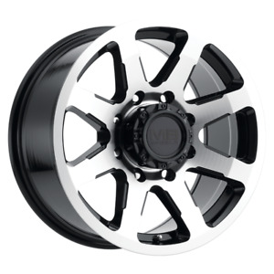 Set 4 16x8 6 8x165 1 Mb Legacy Black Wheels rims 16 Inch 60021