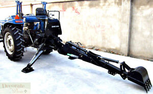Backhoe Tractor Attachment Bh7600 Bucket Pto 3 Pt Link Excavator Hydraulic New