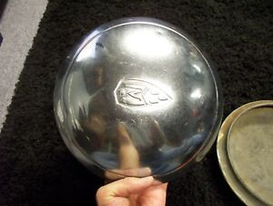 two 1930 s 1940 s Oldsmobile Olds Hubcaps Dog Dish Poverty Moon Style