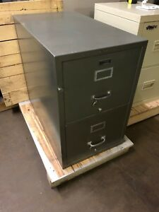 2 Drawer Letter Size Fire proof File Cabinet By Shaw Walker Rating 350 1 Hr