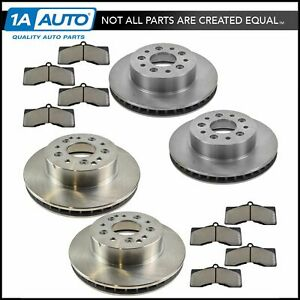 Front Rear Semi Metallic Disc Brake Pad Rotor Kit For Chevrolet Corvette New