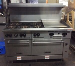 Vulcan 60ss 6b24gn Natural Gas 60 Range W 6 Burners 24 Griddle