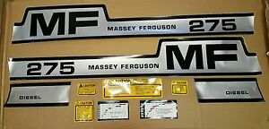 Massey Ferguson 275 hump Decal Set