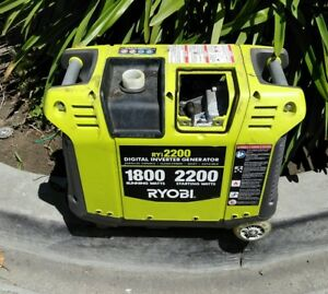 Parts Only Ryobi ryi2200 2 200 watt Green Gasoline Digital Inverter Generator